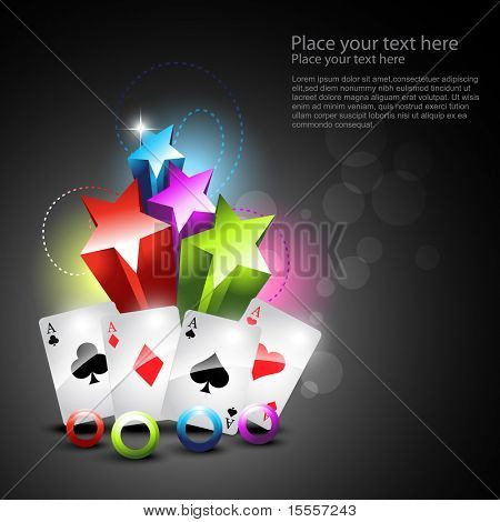 set of playing cards in beautiful background