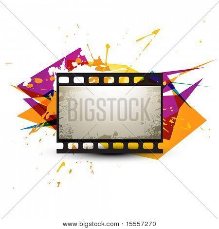 abstract photo reel artwork design