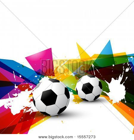 vector football on colorful abstract background