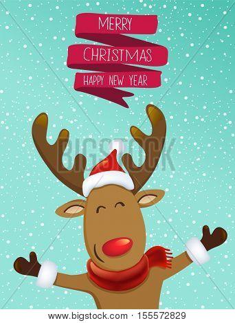Christmas greeting vector illustration