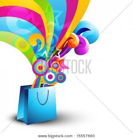 diseño de vector elegante bolso de compras