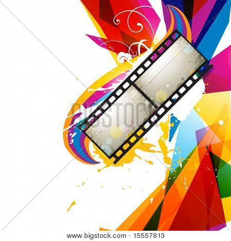 photo reel abstract colorful design