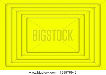 Vector Yellow Concentric Rectangle Elements Background. Vector illustration. Background with 5 Yellow Rectangle from Shadow. Wed Design.