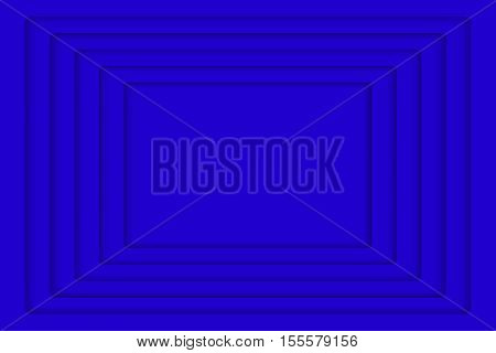 Vector Blue Concentric Rectangle Elements Background. Vector illustration. Background with 5 Blue Rectangle from Shadow. Wed Design.