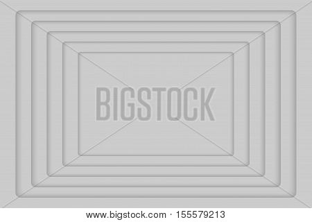 Vector Grey Concentric Rectangle Elements Background. Vector illustration. Background with 5 Grey Rectangle from Shadow. Wed Design.