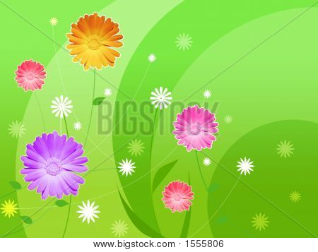 Picture With Flowers