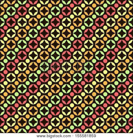 Abstract Seamless Pattern With Circles.