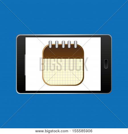 icon smartphone calendar agenda design vector illustration eps 10