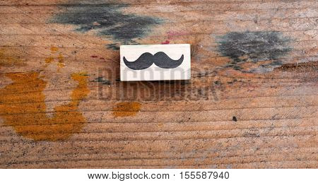 picture of a moustaches rubber stamp. men's health awareness concept