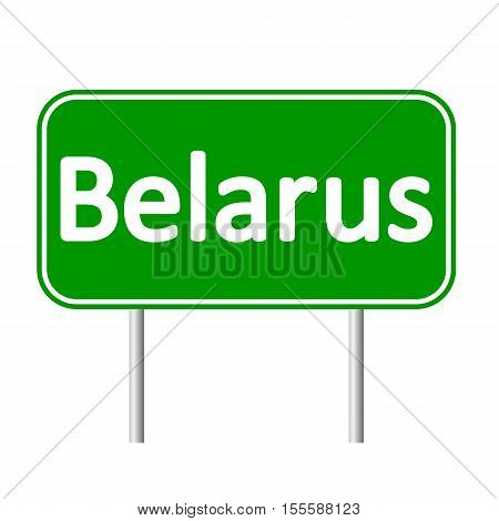 Belarus road sign isolated on white background.