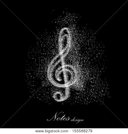 Music notes Icon background easy all editable