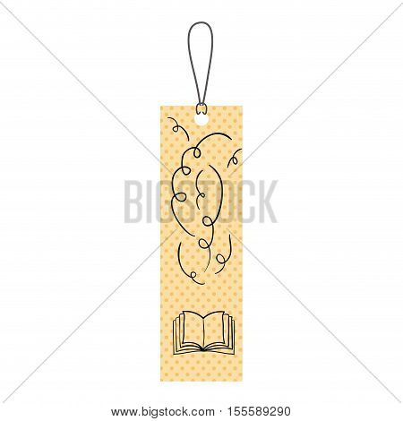 Scrapbook with book icon. Card paper label scrapbooking and decoration theme. Isolated design. Vector illustration