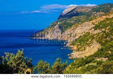 The coast of Monte Argentario, Tuscany, Italy