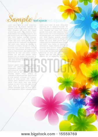 stylish beautiful flower background with space for your text