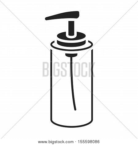 Lotion icon in black style isolated on white background. Hairdressery symbol vector illustration.