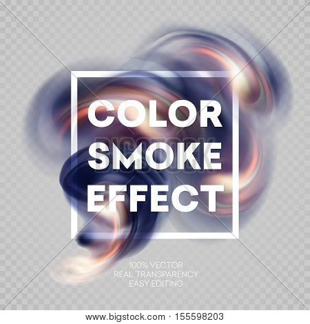 Colorful smoke on isolated background. Vector illustration EPS10