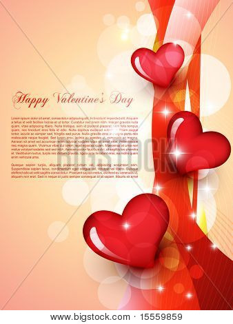 stylish beautiful valentine day heart background