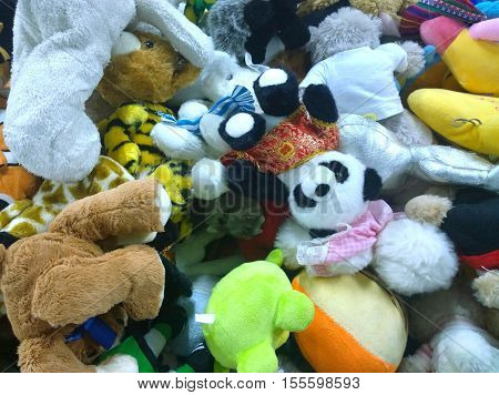 The secondhand doll in a local market