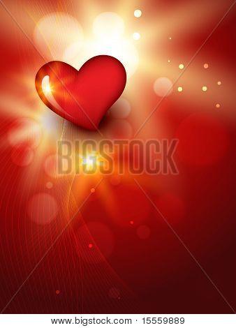 Vector schönen Herzen Hintergrunddesign