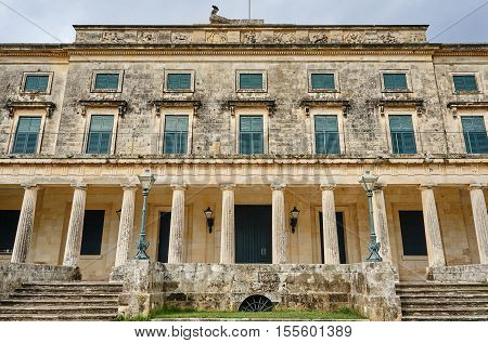 Palace of St. Michael and St. George on the island of Corfu Greece