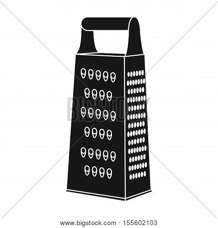 Grater icon in black style isolated on white background. Kitchen symbol vector illustration.