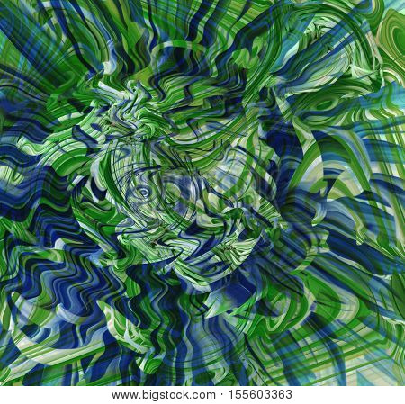 background bright multi-colored lines green dark blue white turquoise blue color wallpaper suitable for design colorful wavy lines are twisted.