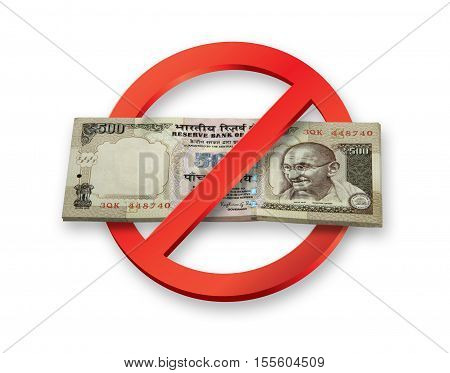 Demonetisation of Indian Rupees 500 Currency Notes becomes invalid