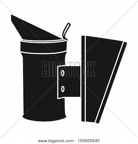 Bee smoker icon in black style isolated on white background. Apiary symbol vector illustration