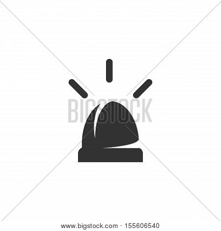 Siren Icon isolated on a white background - stock vector