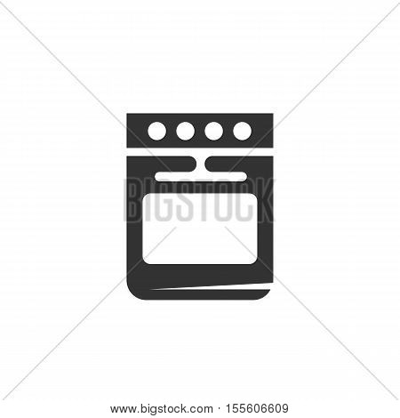 Stove Icon isolated on a white background - stock vector