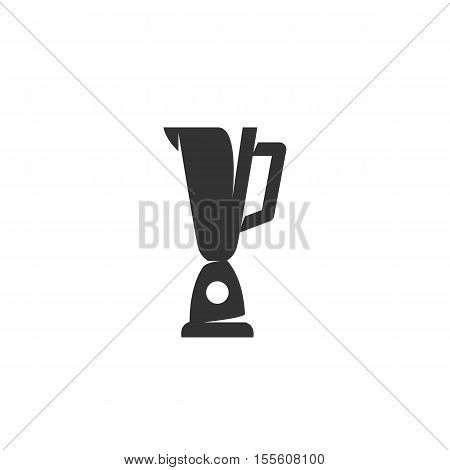 Blender logo silhouette design template isolated on a white background. Simple concept icon for web, mobile and infographics. Abstract symbol, sign, pictogram, illustration - stock vector