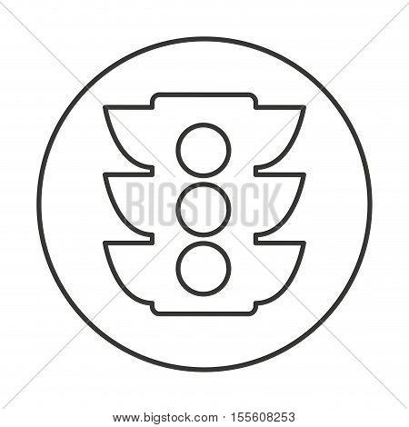 semaphore traffic isolated icon vector illustration, eps10