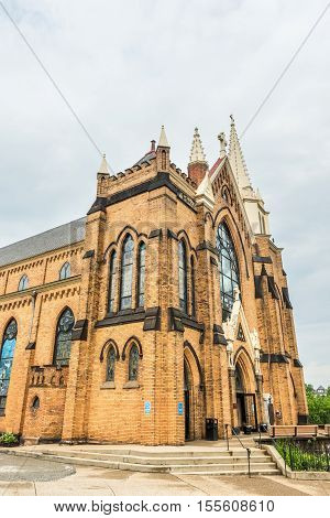 Pittsburgh, USA - June 3, 2016: Saint Mary of the Mount Church on Grandview Avenue