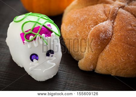 Sugar Skull And Bread Of Dead