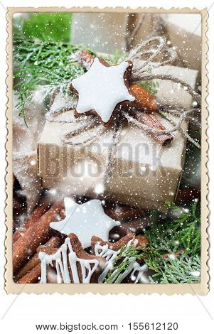 Christmas Gift Cinnamon Cookies Photo Frame