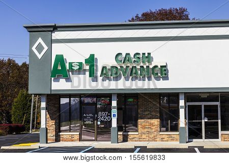 Indianapolis - Circa November 2016: A-1 Cash Advance Mall Location. A-1 Cash Advance Is A Payday Loa