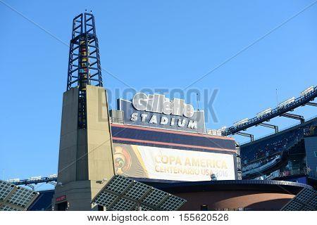 Foxborough, MA, USA - Jun.18, 2016: Gillette Stadium hosts Copa América Centenario Quarter finals between Argentina and Venezuela, Foxborough, Greater Boston Area, Massachusetts, USA.