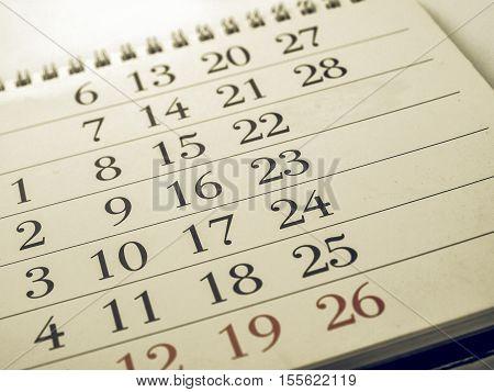 Vintage Looking Calendar Picture