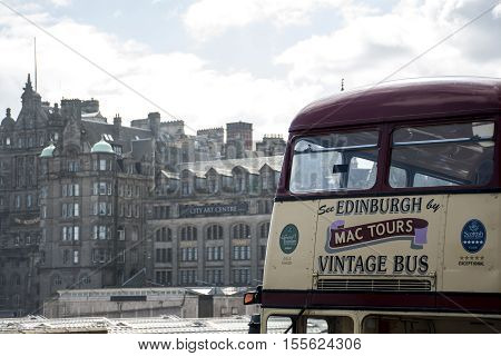 Scotland United Kingdom Edinburgh 14.0 5.2016 - Mac Tours Vintage - City Bus Sightseeing