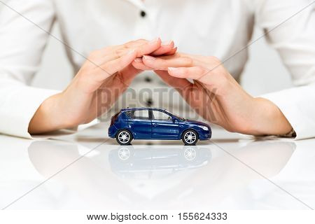 Protection of car. Business concept. high resolution image.