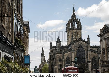 Edinburgh city historic Town the Architecture Fassade and Church