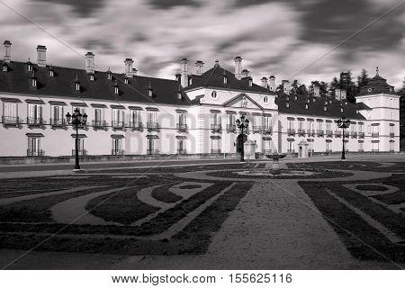 El Pardo (Madrid) Spain 12 October 2016: Palace of the Pardo old residence of Franco. El Pardo Spain