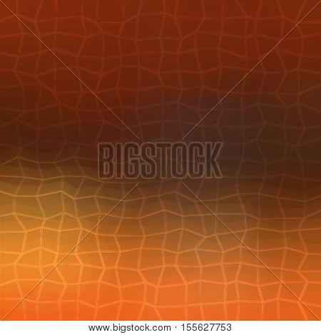Orange and dark brown gradient modern 2d polygonal background