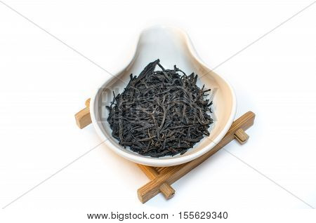 Traditional Chinese tea. Green tea. Tea on a white background.