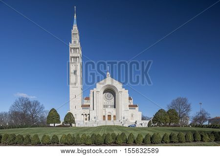 Washington D.C. USA - January 18 2016: The Basilica of the National Shrine