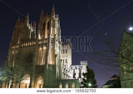 Washington D.C. USA - January 21 2016: The Washington National Cathedral