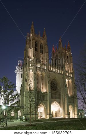Washington D.C. USA - January 21 2016: Washington National Cathedral