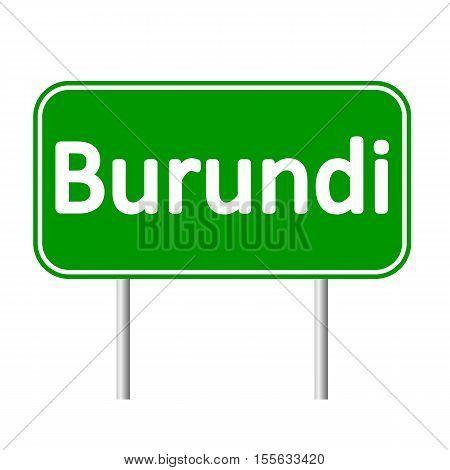 Burundi road sign isolated on white background.