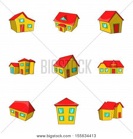 Dwelling icons set. Cartoon illustration of 9 dwelling vector icons for web