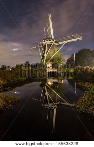 De Riekermolen is a historic polder drainage windmill from 1636 on the bank of the River Amstel in Amsterdam.